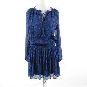 Banana Republic blue long sleeve tunic dress M